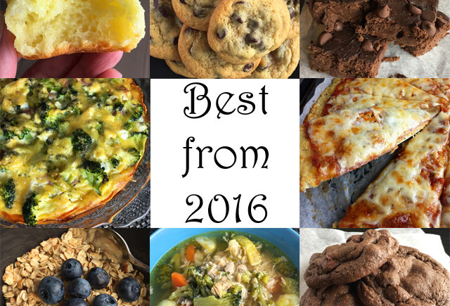 Collage of best recipes of 2016