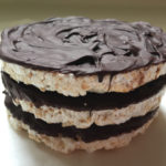 A stack of Chocolate Coated Rice Cakes