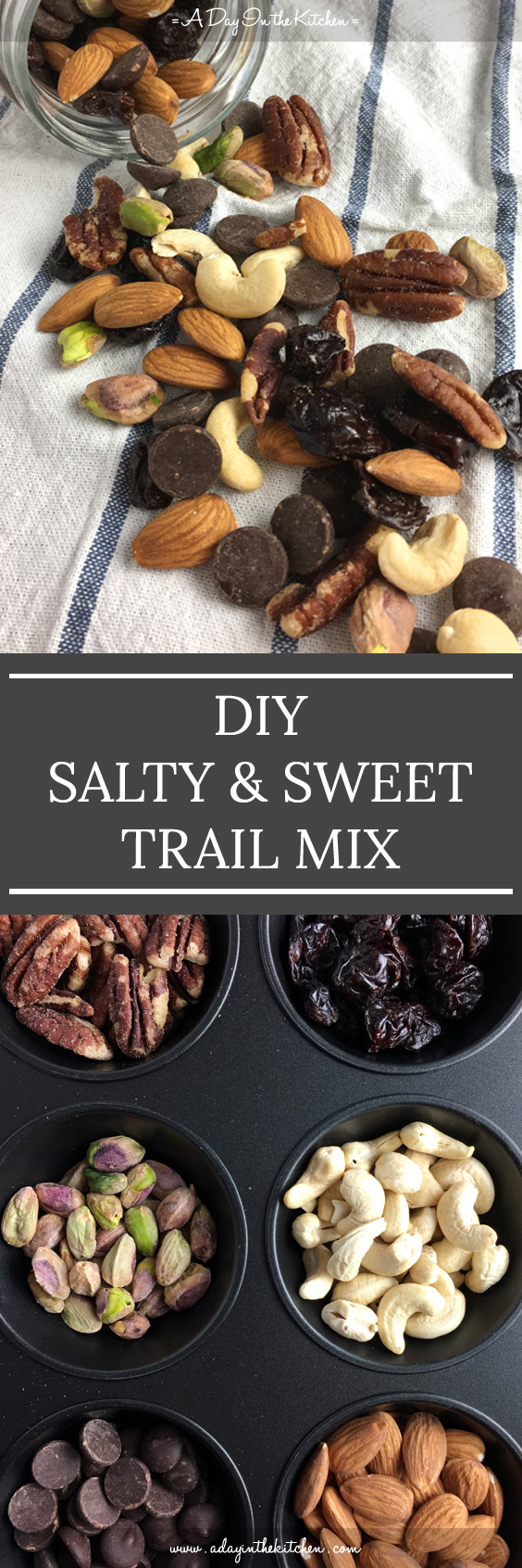 Stop buying big bags of trail mix with ingredients you don't like, and try DIY Salty & Sweet Trail Mix with only your favorites!
