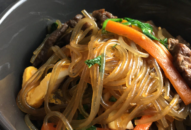 Korean Sweet Potato Noodles (Japchae)