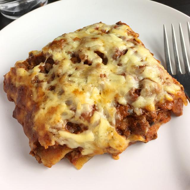 Cheesy Bolognese Lasagna