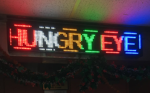 Hungry Eye LED sign