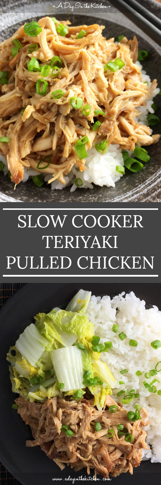 This tasty Slow Cooker Teriyaki Pulled Chicken is perfect for that weeknight meal when you're short on time to prepare dinner. Let the slow cooker do the cooking for you!