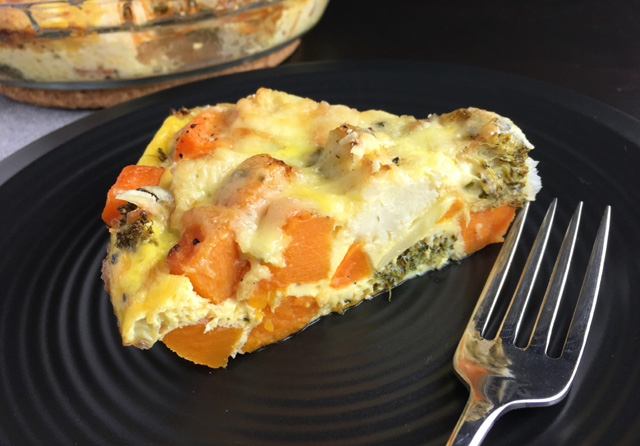 Try this recipe out with your favorite roasted vegetables and cheese ...