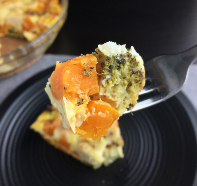 Crustless Roasted Vegetable Quiche | A DAY IN THE KITCHEN