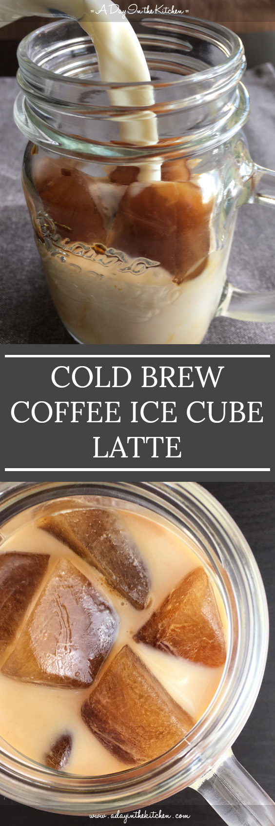 Want iced coffee that doesn't get watered down as it nears the bottom of the glass? Cold-Brewed Coffee Ice Cube Latte will become your favorite iced coffee!