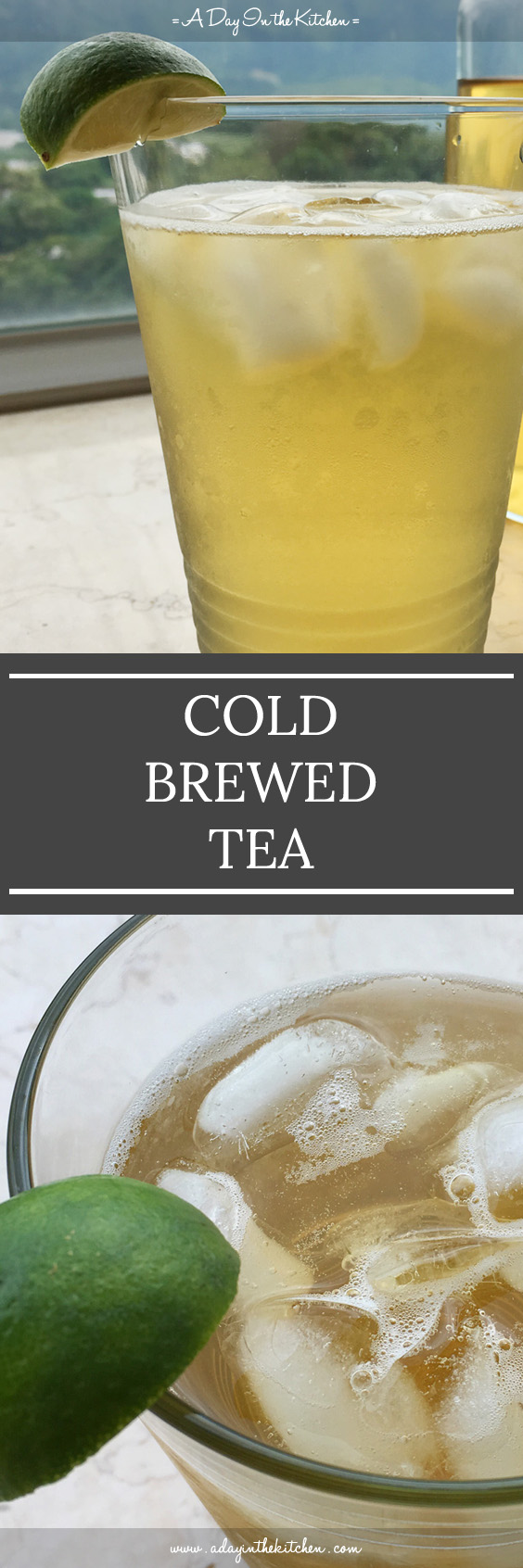 Cold Brewed Tea is a refreshing drink that is smooth and not bitter. Perfect for those hot summer days!