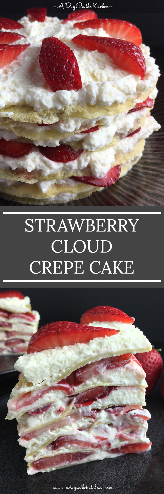 A deliciously light and refreshing dessert, Strawberry Cloud Crepe Cake is gluten-free with no refined sugar. A fabulous way to enjoy ripe summer berries.
