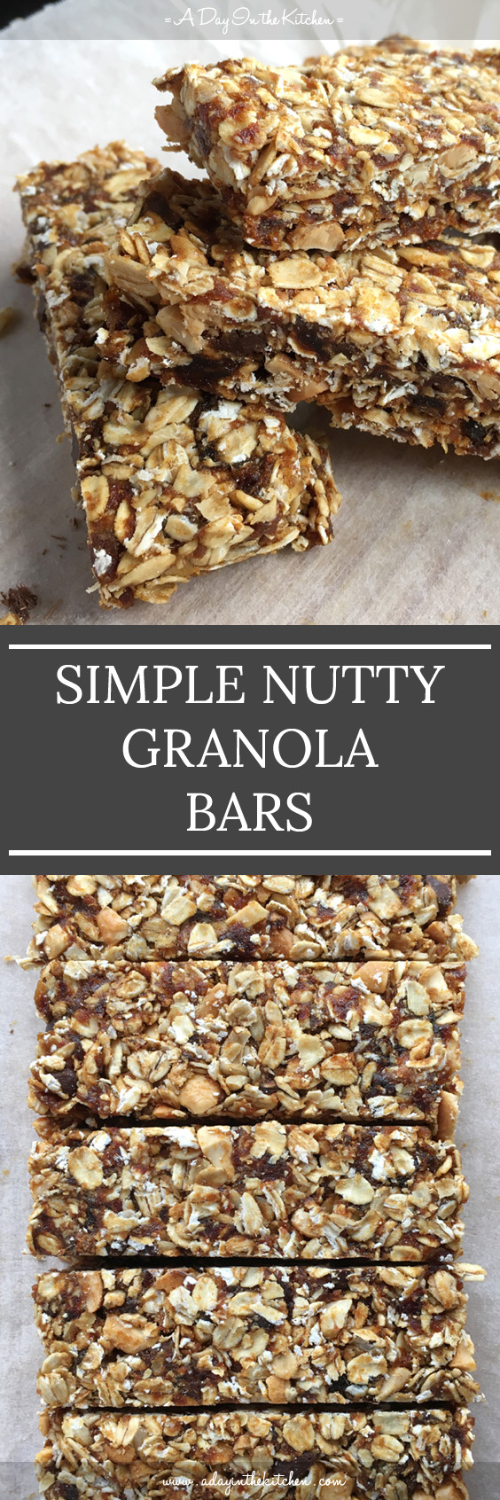 Simple Nutty Granola Bars have no refined sugar and don't require baking for them to set. Easy to make and tasty to eat, they make the perfect snack!