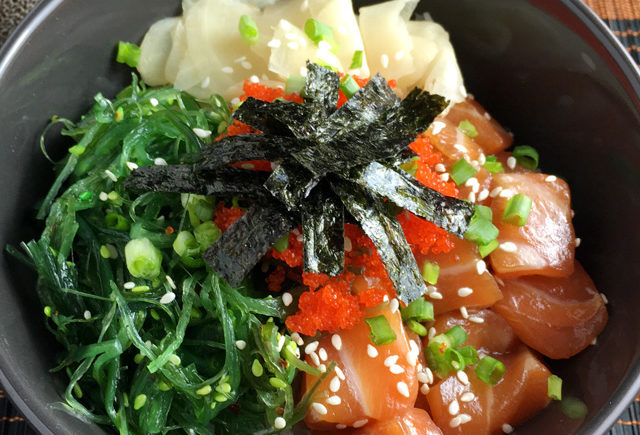 Do it yourself salmon poke bowls a day in the kitchen for Big fish little fish poke