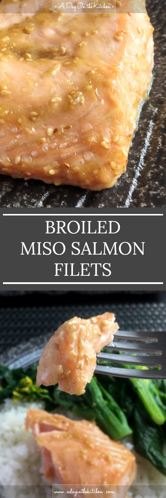 Introduce a taste of Japan to your next fish dish with this tasty Broiled Miso Salmon Filets recipe! Easy to prepare and packed with flavor! #glutenfree #salmon #misosalmon