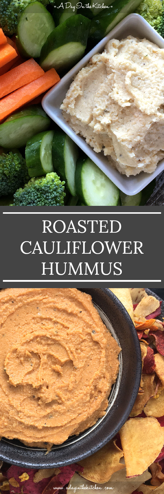 You don't need beans to make hummus! Roasted Cauliflower Hummus is just as tasty as regular hummus, if not moreso! Add tomato paste to the mix to make Roasted Cauliflower Tomato Hummus! #hummus #roastedcauliflower #roastedcauliflowerhummus #tahini #tomatohummus #glutenfree #paleo