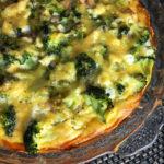 Sweet Potato Broccoli Bacon Quiche