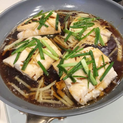 Chinese Poached Black Cod A Day In The Kitchen