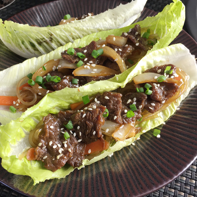 Korean Steak Lettuce Wraps