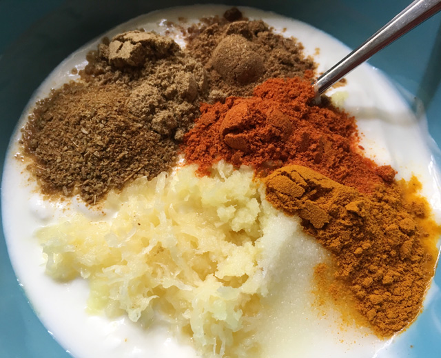 Yogurt and spices marinade for Creamy Butter Chicken