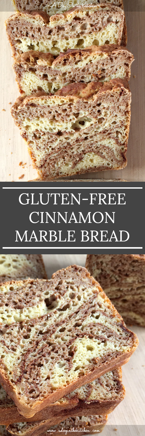Like yellow, orange, and red leaves, nothing says fall like a yummy Cinnamon Marble Bread. Soft and light, you would never guess it's gluten-free! #glutenfree #cinnamonbread #cinnamon #glutenfreebread