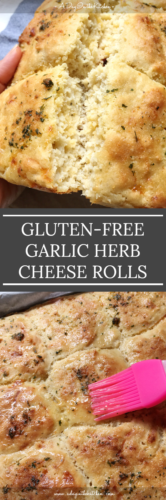 These Garlic Herb Cheese Rolls are tender, tasty, and gluten-free! They are the perfect companion to any meal! #glutenfree #garlicherbcheeserolls #pullapartrolls #rolls #buns #garlicrolls #cheeserolls #herbrolls #sidedishes #glutenfreerolls