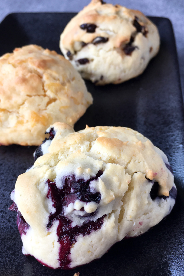 Light and tender buttery tea scones that are perfect plain or with your favorite fillings like blueberries, cheese, or dried fruit! #teascones #scones #ubcscones #cheesescones #blueberryscones #cranberryscones