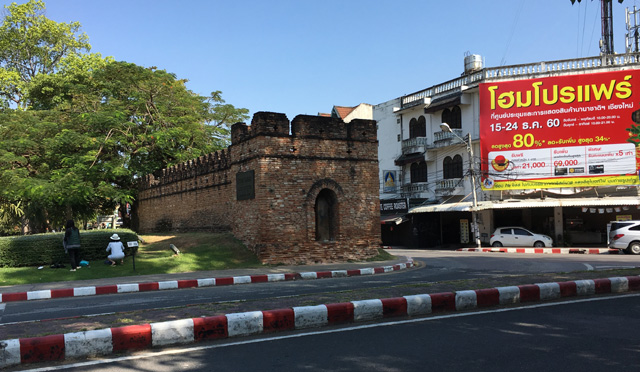 View of the West Gate of the Walled Old City in Chiang Mai